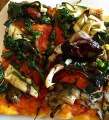veggie pizza at Piccolo Forno Pizzeria