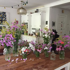 Surprised how satisfying and therapeutic flower arranging is.