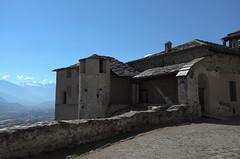Aosta - il castello di Quart e il ghiacciaio del Rutor