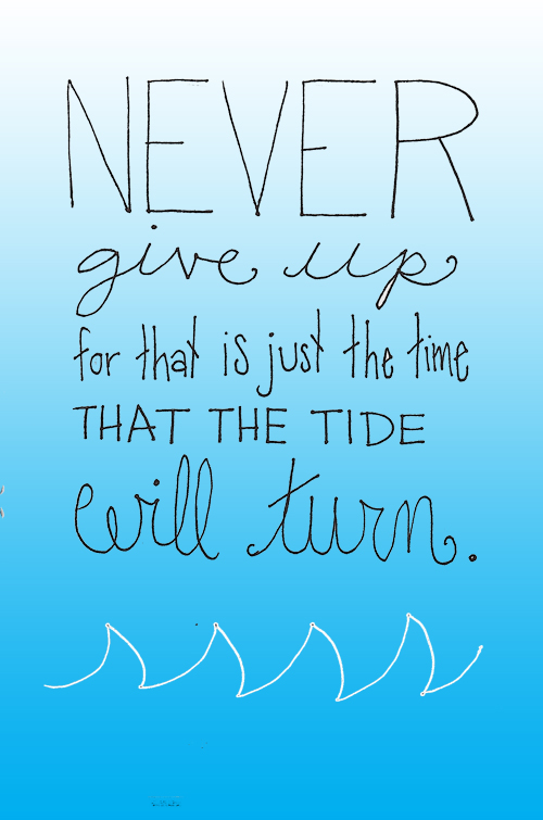 illustrations: never give up