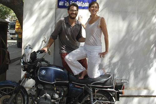 Claire et JB en BMW R100