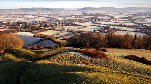 morning winter sunrise landscape frost somerset frosty 150 moors viewpoint levels hilltop f9 mendips brentknoll crookpeak