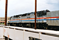 Amtrak F40PH #233 & 214 On The Southwest Chief At Albuquerque