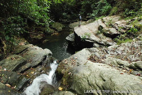 From the top of Agbaliga Waterfalls in Romblon Island, Romblon Province, Philippines