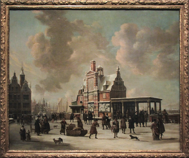 Post office on the harbour - Paalhuis, Jan Beerstraaten ca 1665
