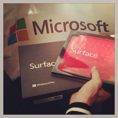 My Surface Pro 128GB to unbox live on YouTube Monday (if I can find a sponsor)!