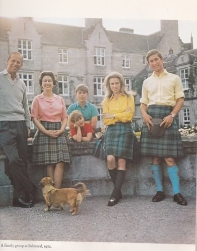 1974 Here is another of the Royal Family at Balmoral looking rather casual