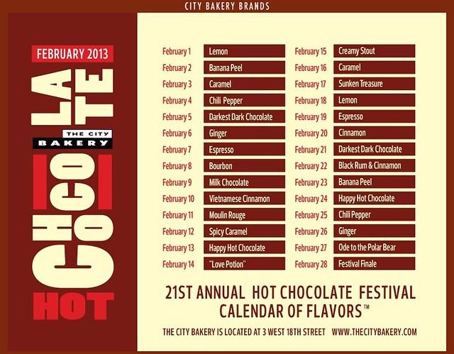 City Bakery Hot Chocolate Calendar