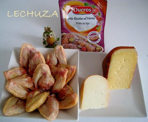 Alitas de pollo con salsa de queso (13)