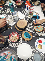 Making it Lovely and Anthropologie - Craft Night - Wood Valentines