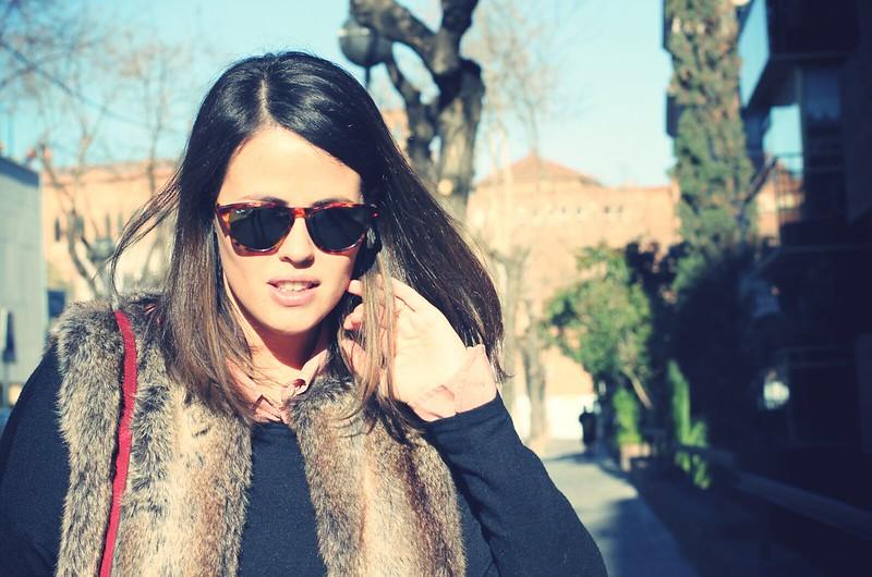 Look Chaleco de pelo - Faux Fur vest - Monicositas
