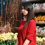 Florist in Red Sweater