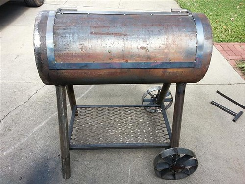 Reverse Flow Smoker Bbq Pit Project Lots Of Pictures Miller