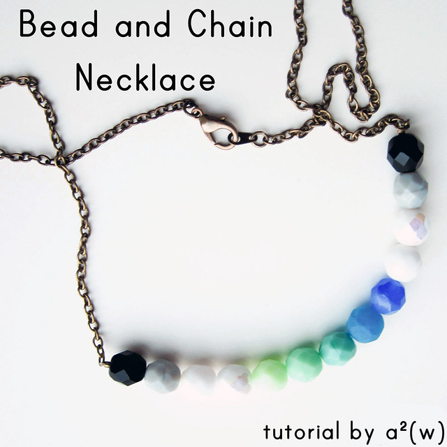 Beaded Chain Necklace Tutorial by a²(w) - asquaredw - Ali