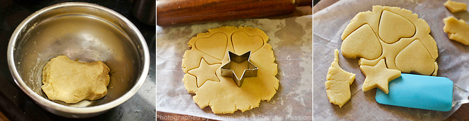 How to make  shortbread cookies - Step2