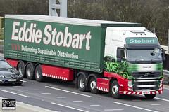 Volvo FH 6x2 Tractor - PX11 BYC - Emma Jade - Eddie Stobart - M1 J10 Luton - Steven Gray - IMG_1741