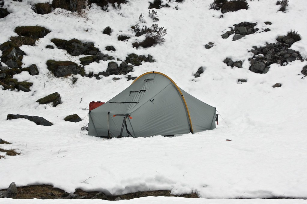 Snowy Campsite