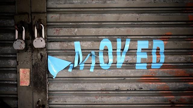 Moved signage #walkingtoworktoday
