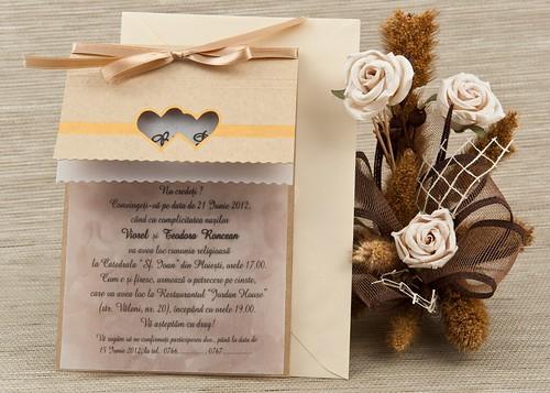 invitatii nunta in stil rustic by InvitatiiNunta