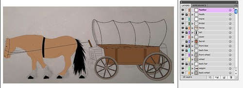 Covered Wagon in Progress