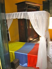 furniture(1.0), mosquito net(1.0), room(1.0), bed(1.0), curtain(1.0), interior design(1.0),