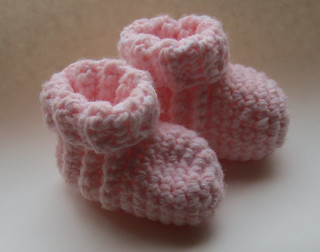 Pink Creamy Toddler Booties
