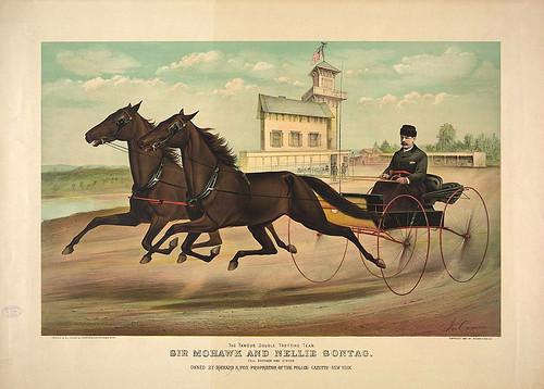 003-Imagen carreras caballos trotones-Library of Congress