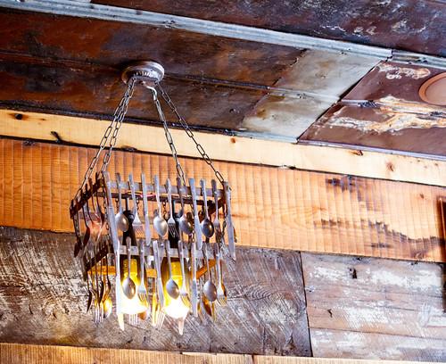 utensil chandelier