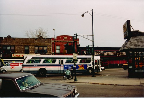 Westbound Chicago Transit Authority Rt # 62 / Archer Avenue bus.  Chicago Illinois.  April 1989. by Eddie from Chicago