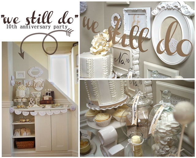Wedding Anniversary Gift Ideas 10 Years : Just ME: We still do! {wedding anniversary party}