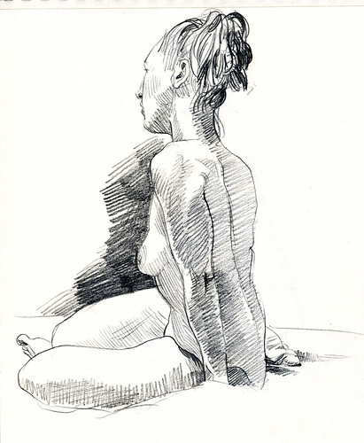 life drawing 15 min pose
