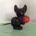 Antique Halloween German Composition Cat Candy Container