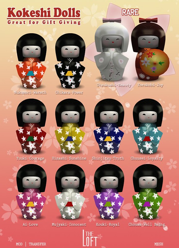 The Arcade SL: The Loft - Kokeshi Dolls