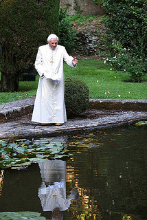 Benedicto XVI jardín