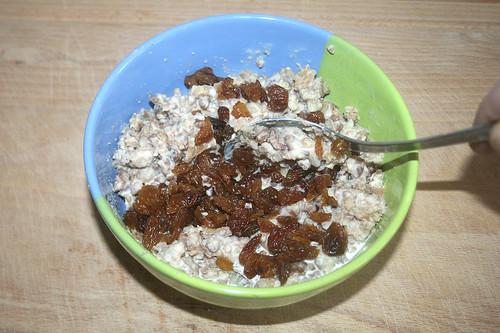16 - Rosinen einrühren / Fold in raisins