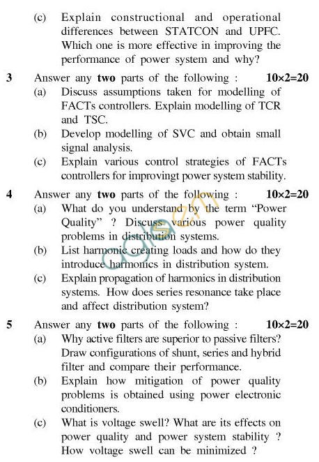 UPTU B.Tech Question Papers - EN-031-Application of Power Electronics to Power System