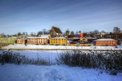 old winter sky snow cold finland lens town europe view angle sony small north wide sigma super historic east clear alpha 1020mm scandinavia 77 slt porvoo lenses a77