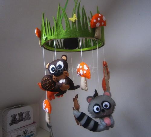 ♥♥♥ Mobile animais da floresta... by sweetfelt \ ideias em feltro