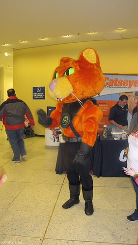 Catseye Pest Control mascot by Coyoty