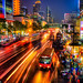 Bus-Stop-at-Night-Downtown-Bangkok-Thailand by Captain Kimo