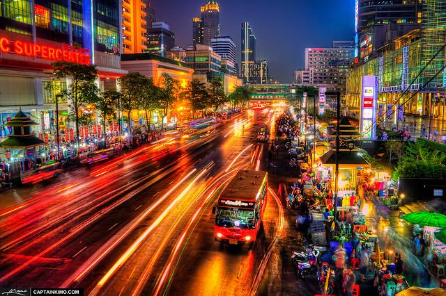 Bus-Stop-at-Night-Downtown-Bangkok-Thailand