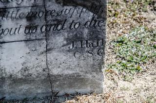 J. Hall - signature stone
