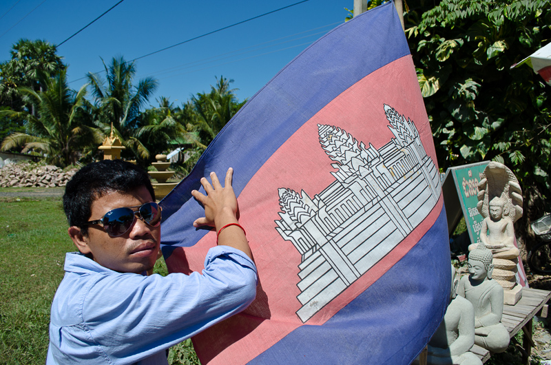 Thou with a Cambodian Flag