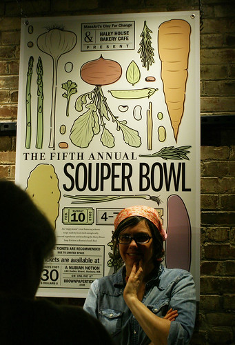 Under the Souper Bowl sign