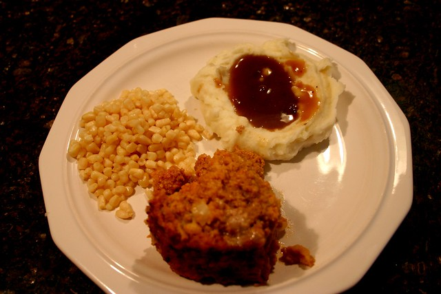 Meatloaf and taters