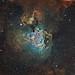 The Swan Nebula M17 Hubble Palette