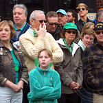 Spectators at the 2013 Bergen County St. Patrick`s Day Parade, Bergenfield, New Jersey