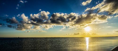 blue sunset sky orange beach nature clouds landscape sony sigma cocoa cocoabeach