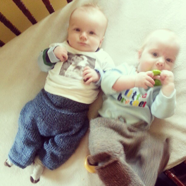 Cute babies. Eli and Benjamin.