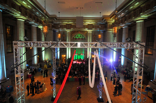 Trussing for aerialist, trade show booth display truss by DC Party Rentals +1 202 436 5114